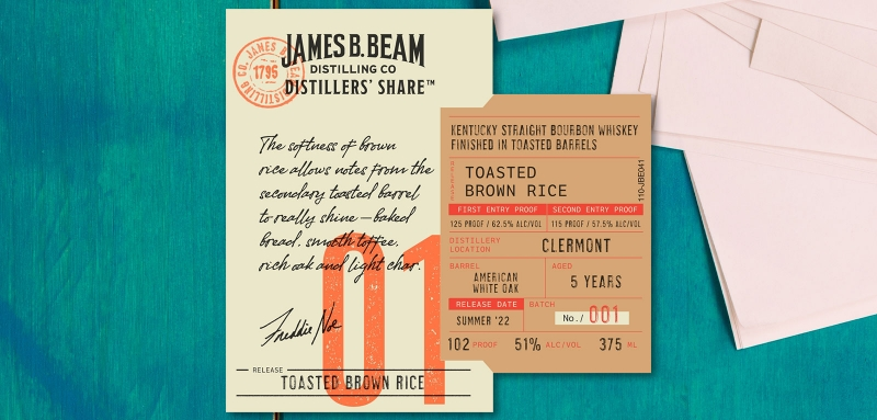 Jim Beam Distillers' Share Toasted Brown Rice