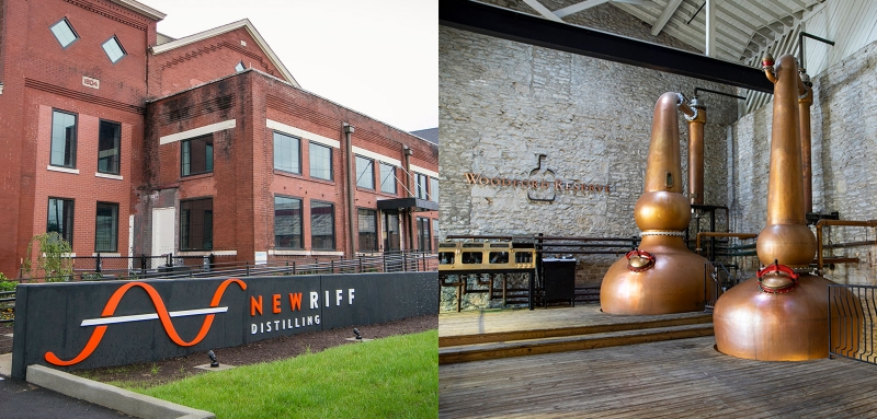 New Riff and Woodford Reserve distillery expansions