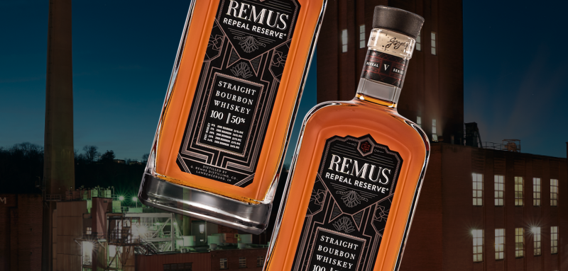 Remus Repeal Reserve V bottle and MGP distillery