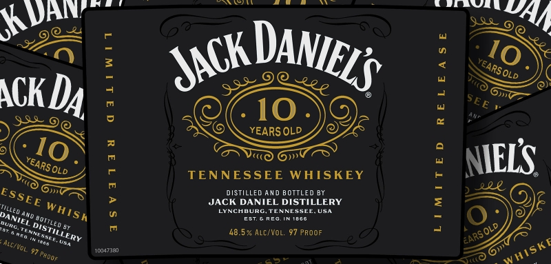 Jack Daniel's 10 years old limited release Tennessee whiskey