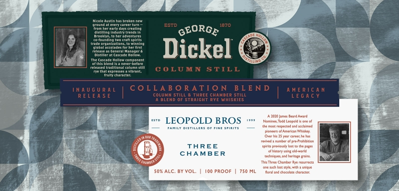 George Dickel and Leopold Bros. Collaboration Series rye whiskey blend