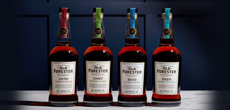 Old Forester Whiskey Row Series new labels 2021