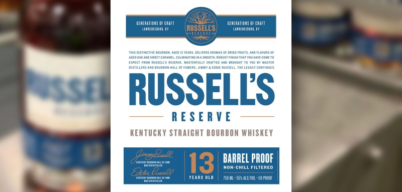 Russell's Reserve 13 Year Old Barrel Proof coming soon