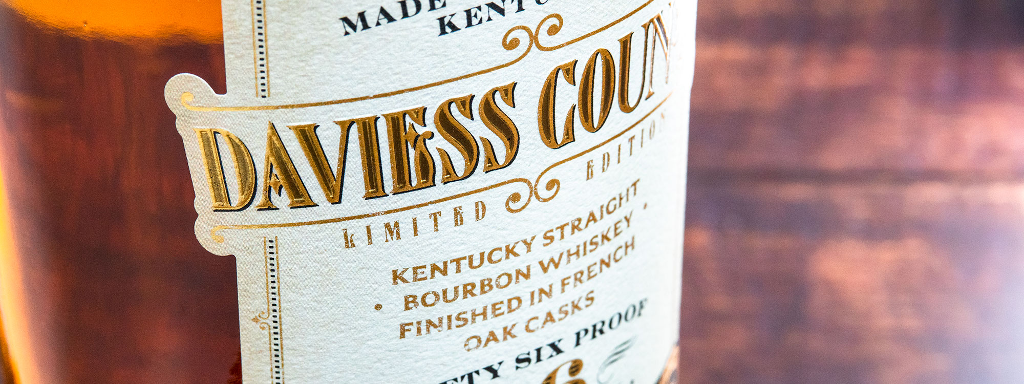 Daviess County Straight Bourbon Whiskey Finished in French Oak Barrels Banner