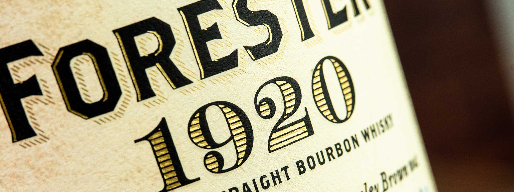 Old Forester 1920 Prohibition Style label closeup